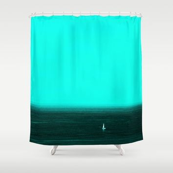 Blue light Shower Curtain by anabprego
