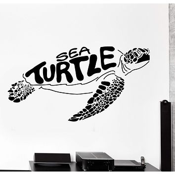 Wall Vinyl Decal Ocean Sea Turtle Undersea Underwater Home Interior Decor Unique Gift z4214