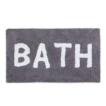 Darling Tufted Absorbent Bath Mat with Embroidery