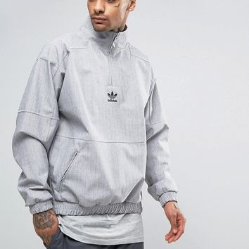 adidas Originals Paris Pack 1/2 Zip Sweatshirt In Grey BK0529 at asos.com
