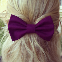 BIG Purple hair bow (Serial-Number-001)