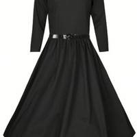 Lindy Bop Women's 'Holly' Vintage Style 3/4 Sleeve Dress