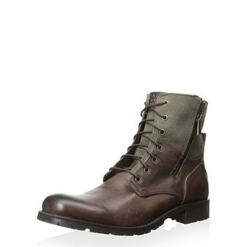 Marc NY Men's Vesey Mixed Material Lace-up Boot at MYHABIT