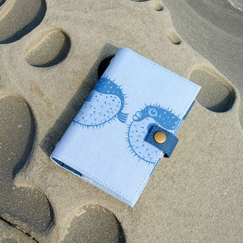 Blowfish / pufferfish / Planner / Calender / Organizer / 4 Colors / A6 & A7 / weekly planner / daily planner / notebook / 2015 /  Handmade