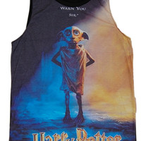 Harry Potter and the Deathly Hallows Dobby Hogwarts Tank Tops T Shirt Sexy Punk Rock Tee Shirt Women Girl Sz S,M,L