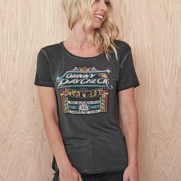Johnny Paycheck A-11 Women's Droptail Tee