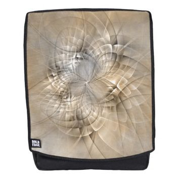 Earth Tones Abstract Modern Fractal Art Texture Backpack