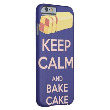 Keep Calm and Bake Cake Vintage Poster