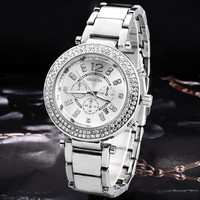 Women's Fashion Rhinestone Watches Feminine Geneva Bracelet Watch Women Dress Watches New Clock Wristwatches = 1956430596