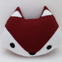 Red Fox Pillow - Stuffed Animal Plush - Soft Toy - Fox Doll Cushion