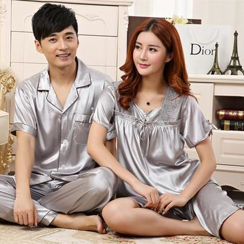 Silk couple Pajamas