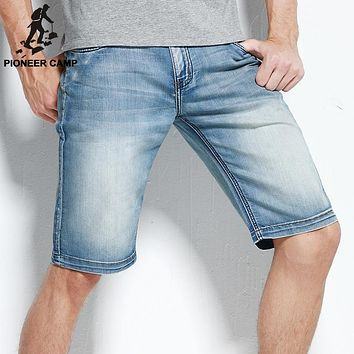 Pioneer Camp new fashion mens short jeans brand clothing bermuda summer board shorts thin breathable denim shorts male 566045