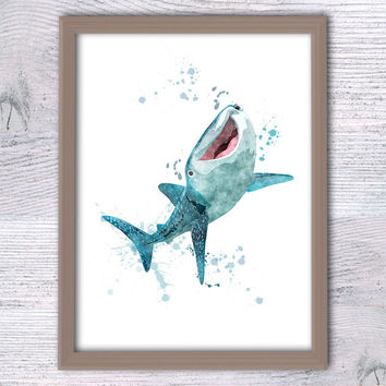 Finding Dory Destiny art poster Disney watercolor print Little dorry Pixar art decor Nemo poster Baby shower gift Kids room wall decor V106
