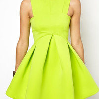 SPRING, SUMMER, CANDY COLOR SLEEVELESS DRESS FASHION