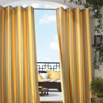Gazebo Stripe Grommet Top Window Curtain Panel