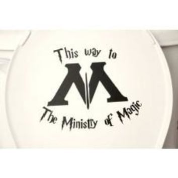 This Way to the Ministry of Magic Funny Harry Potter Toilet Decal wall car