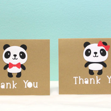 Panda Thank You Card - Panda Card