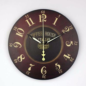 Italian Coffee House Wall Clock