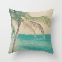 Coco Palm in the Beach  Throw Pillow by Andreka Photography | Society6