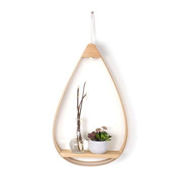 So into this design on Fab! Wooden Teardrop Shelf 1 Shelf #FabForAll