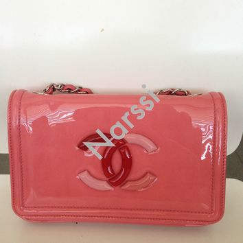 Yummy Chanel 2010 Cruise Pink Lipstick Flap Patent Leather!