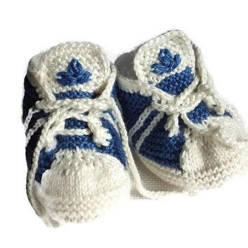 Baby Knitted Adidas Pattern, PDF Pattern, Newborn Sneakers, Knitting Booties, Baby Sho