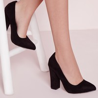 Missguided - Block Heel Court Shoes Black