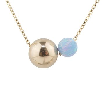Irregular Two Tone Serene Blue Opal Necklace