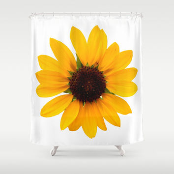 Sunflower Shower Curtain by Khana's Web | Society6