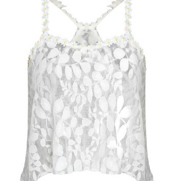 Sexy Summer Lace Crop Tops cropped blouses vest clothing women.