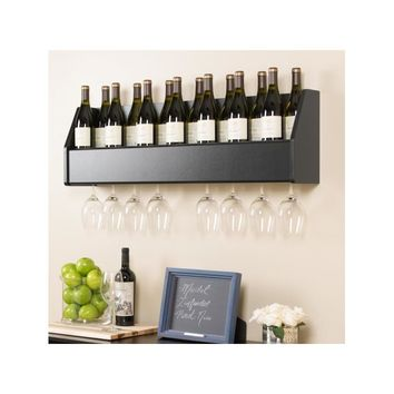 Keene 18 Bottle Wall Mounted Wine Rack