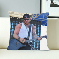 Brantley Gilbert Guitar - Design Pillow Case with Black/White Color.