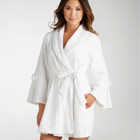 Betsey Johnson Mrs. Terry Short Robe Sleepwear 734527 at BareNecessities.com