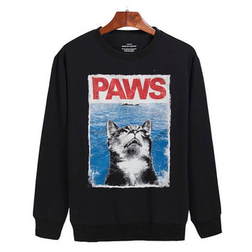 Paws Jaws parody Sweater sweatshirt unisex adults size S-2XL
