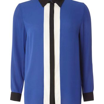 Blue Colour Block Shirt - View All Sale - Sale & Offers
