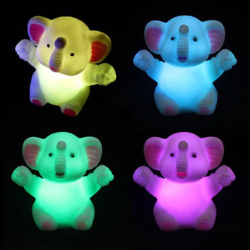7 Changing Colors LED Night Light Elephant Shaped LED Light Party Decoration Lamp Nightlight Great Gift For Kids