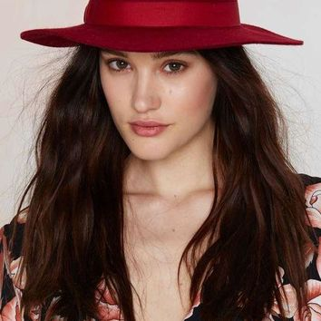 The Angela Wide Brim Wool Hat