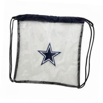2013 nfl football clear see thru drawsring backpack bag - pick team (dallas