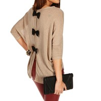 Sale-bow Back Dolman Top