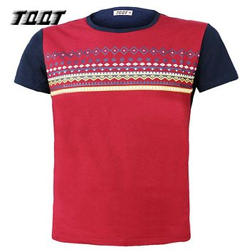 Man'S T-Shirt O-Neck T shirt Striped T-Shirts Men Jerseys Plaid Print Tees Sleeves Shirt