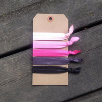 Elastic Hair Tie Set- Pinks and Greys