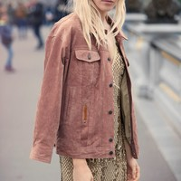 Free People Suede Trucker Jacket
