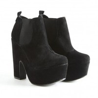 Missguided - Rorke Suede Platform Chelsea Boots