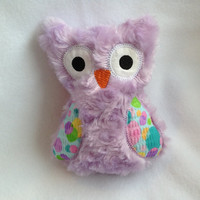 Purple Softie Plush Owl with bright colored wings