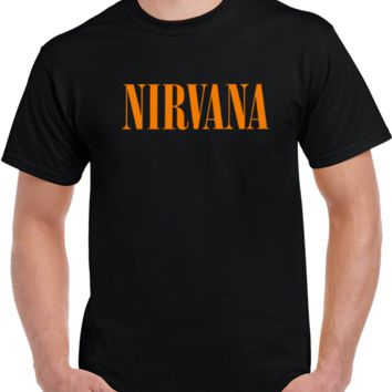 Nirvana Tittle Hot Band Grunge Concert 90's T Shirt