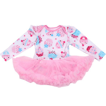 Newborn Dress Baby Clothes Girls Cake Rompers Ruffle Tutu Dresses First Second Birthday  Outfit for 0-24Months