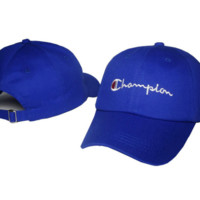 The New Champion Embroidery Blue Cotton Outdoor Baseball Cap Hats