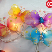 20 Butterfly Bug Multi Colour Fairy Lights String by marwincraft