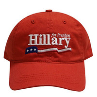 C104 Hillary Usa Flag Cotton Baseball Cap Red