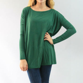 Piko Top- Long Sleeve Emerald